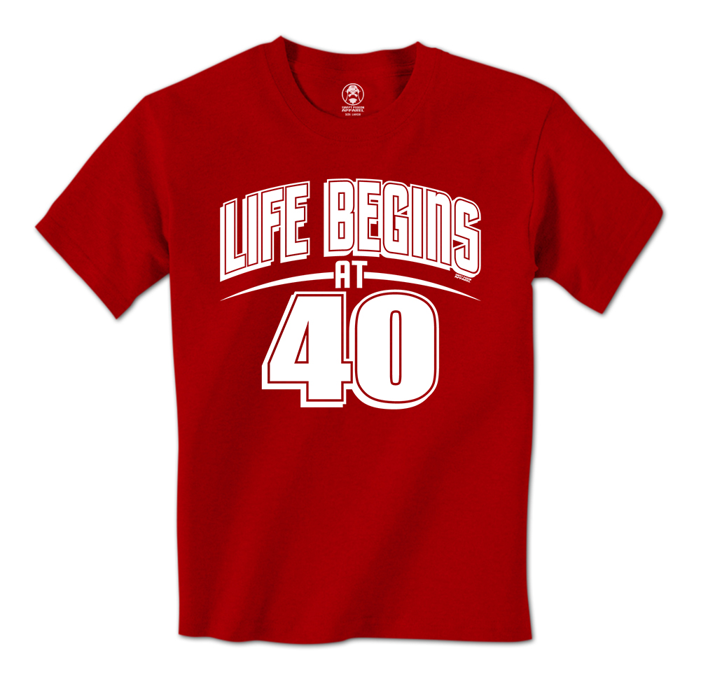 Life Begins At 40 Happy 40th Birthday Over