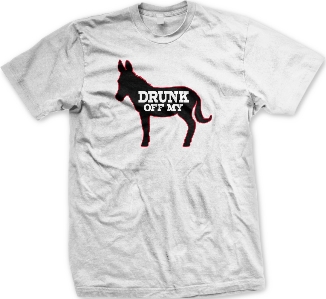Black dog t shirt ebay - Drunk Off My Ass Donkey Drinking Alcohol Beer