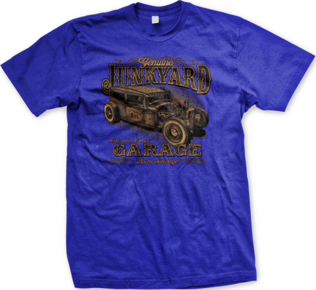 Lunkyard garage auto salvage hotrod classic car racing for Warson motors t shirt