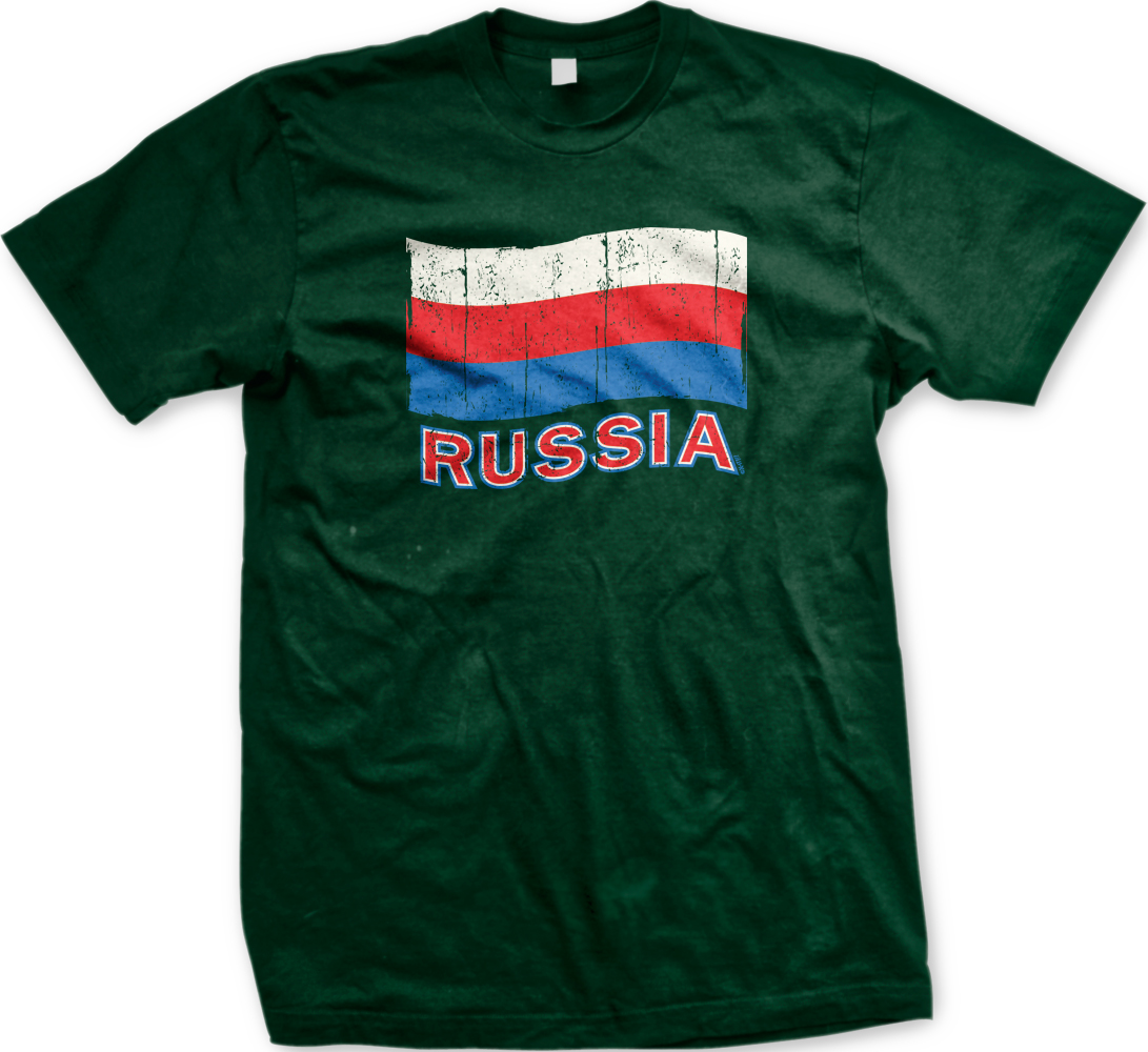 Russia Flag Russian National Pride Soccer Olympics Mens T