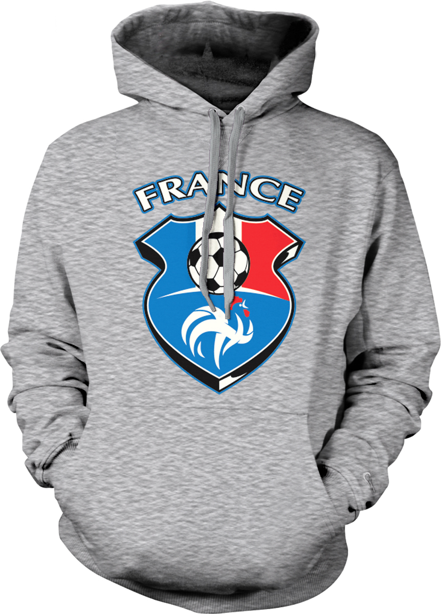 France World Cup Soccer Flag Crest French Pride Football Mens Hoodie Sweatshirt