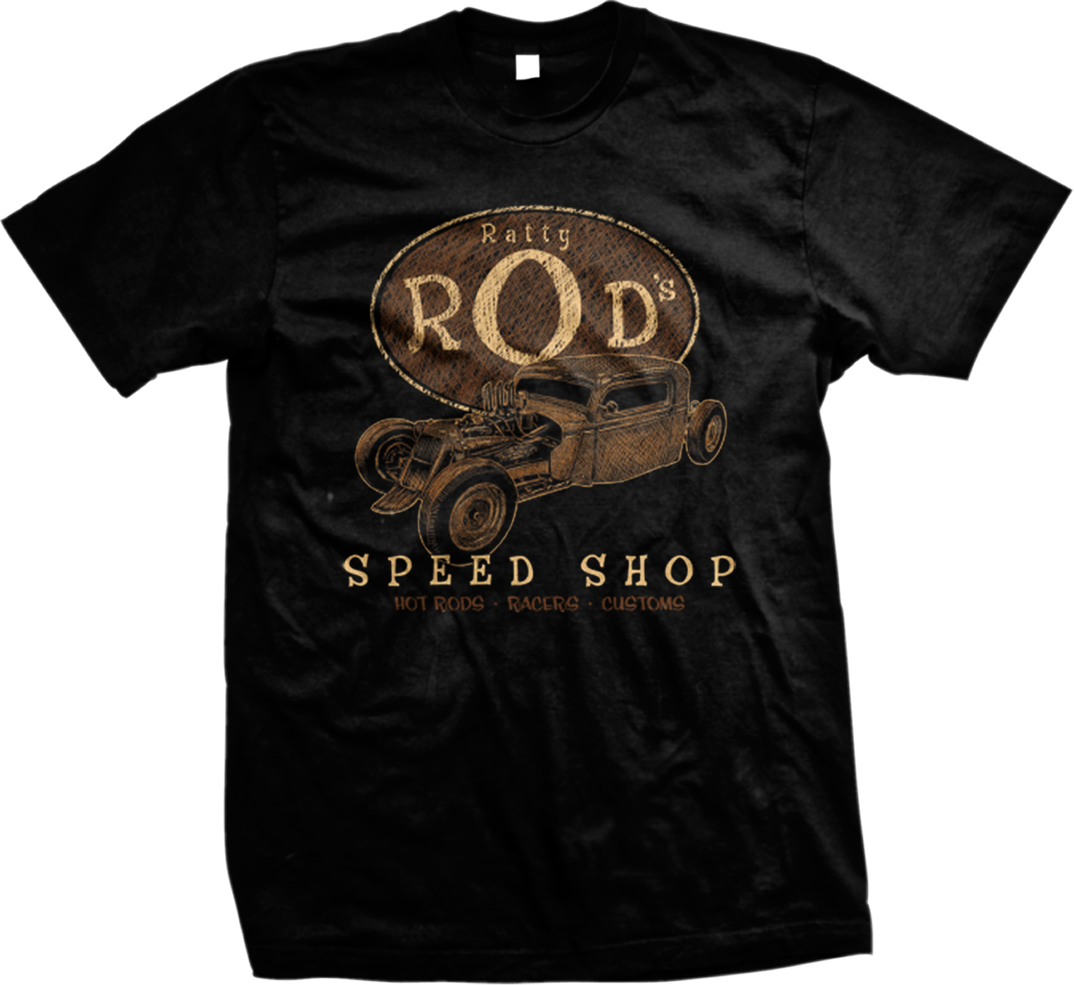 Ratty rod 39 s speed shop hot rods racers customs vintage for Shop mens t shirts