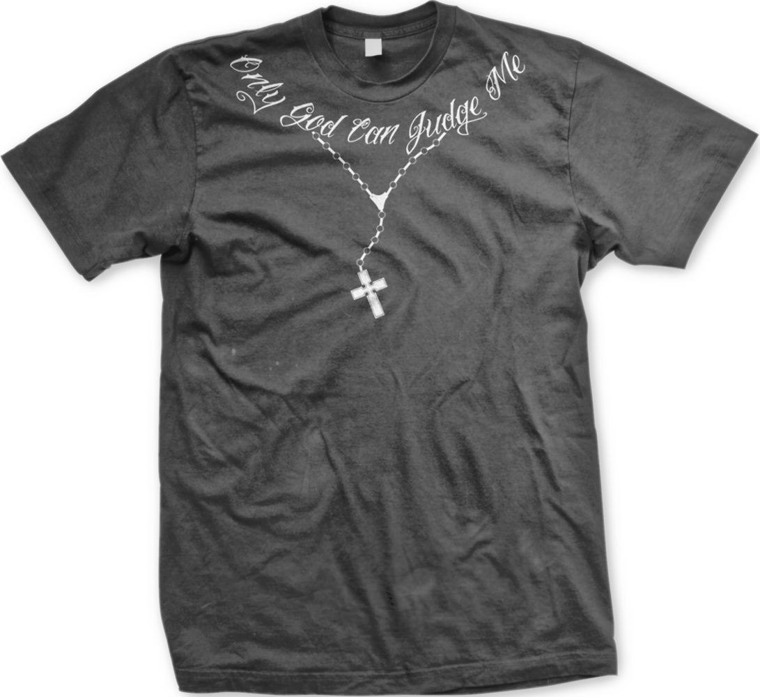 37110d26f8822 ONLY GOD CAN Judge Me Rosary Beads Christian Religious Mens T-shirt