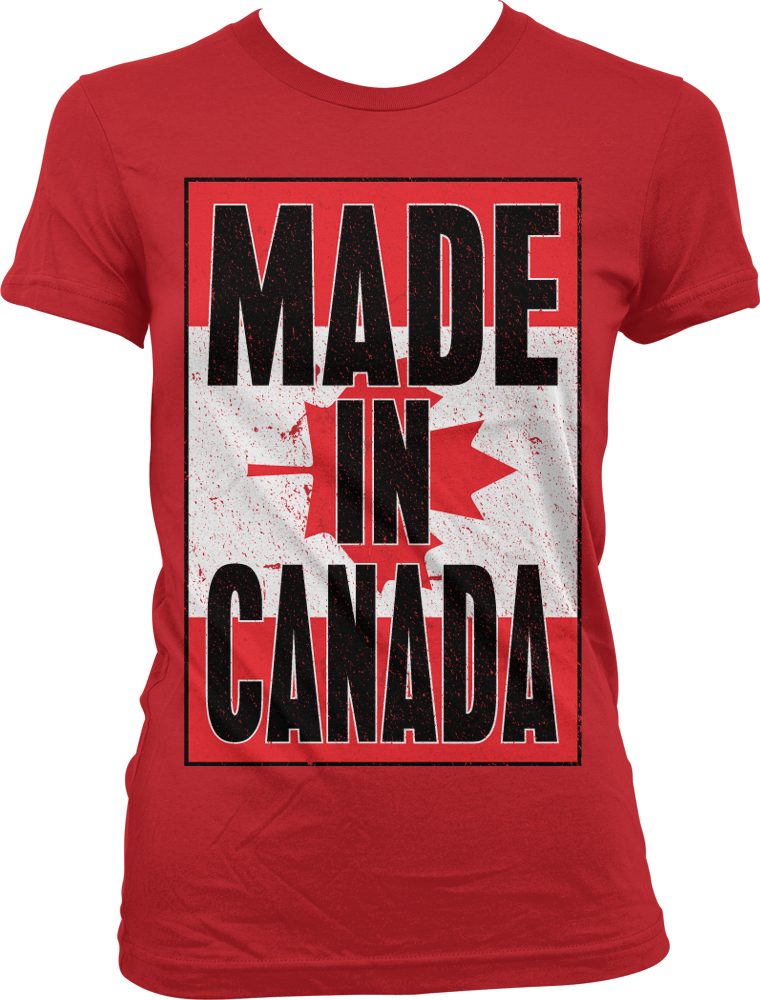 Made in canada canadian flag national pride world cup for Made in canada dress shirts