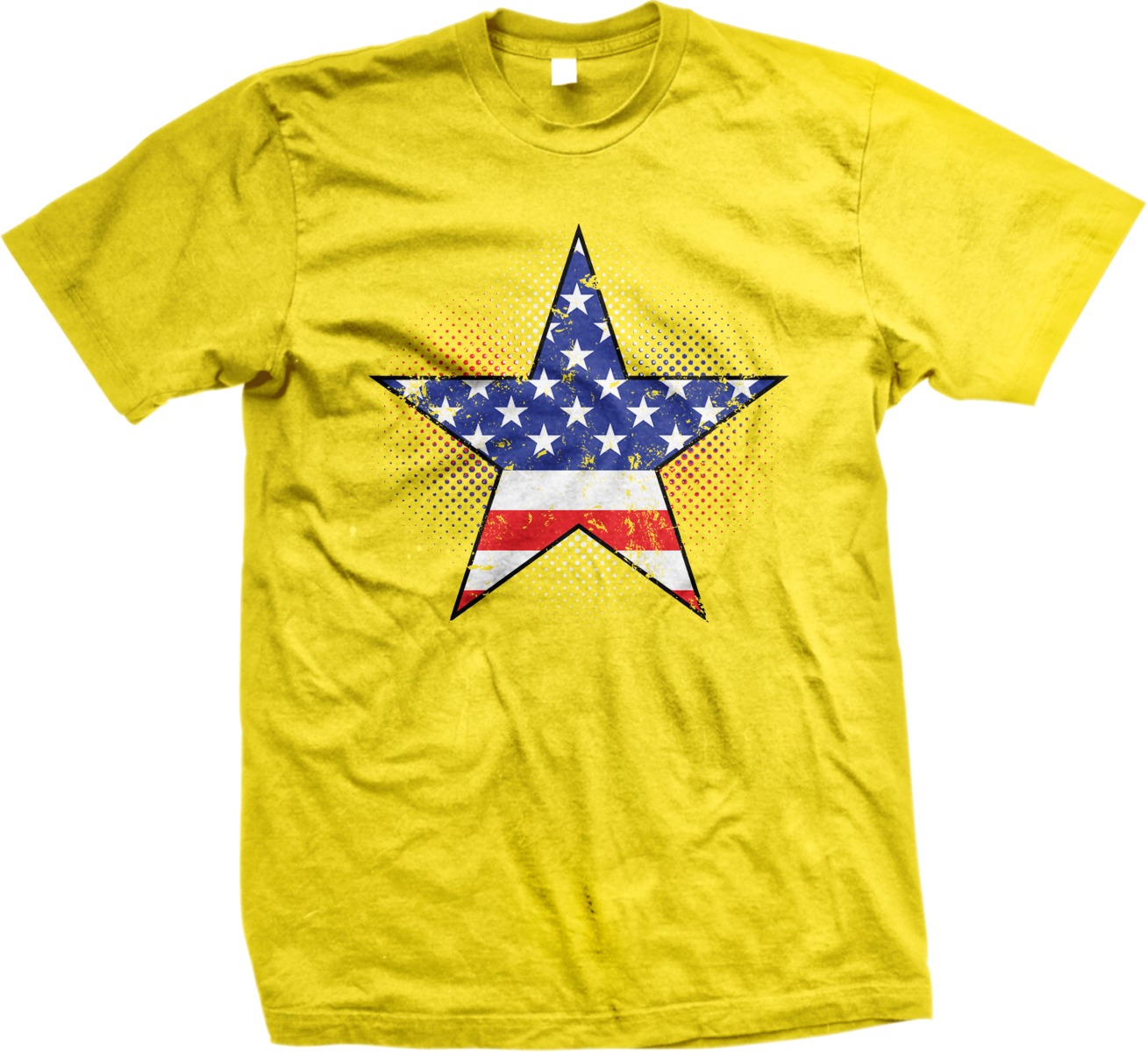 American flag star usa america red white and blue mens t for Red and blue t shirt