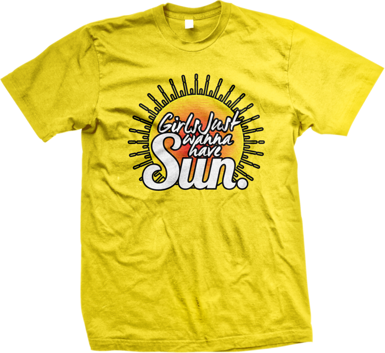 Girls just wanna have sun summer tan beach funny mens t for Beach t shirts for men
