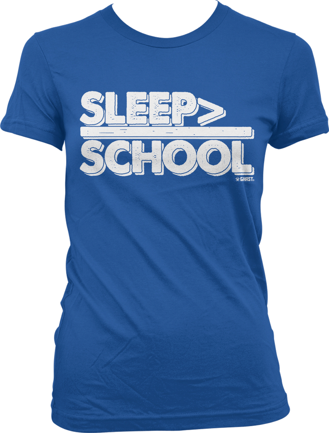 Sleep Is Greater Than School Funny Distressed Juniors T
